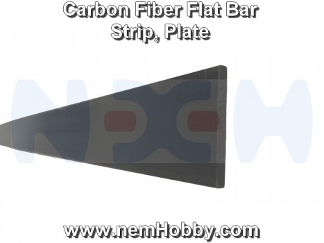 Carbon Fiber Flat Bar 5 x 0.6 x 1000mm